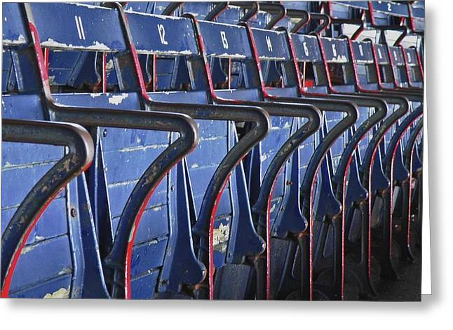 Fenway Park Greeting Cards - Ready for Red Sox Greeting Card by Donna Shahan