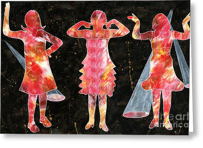 Besties - Ready To Dance Greeting Card by Lori Kingston