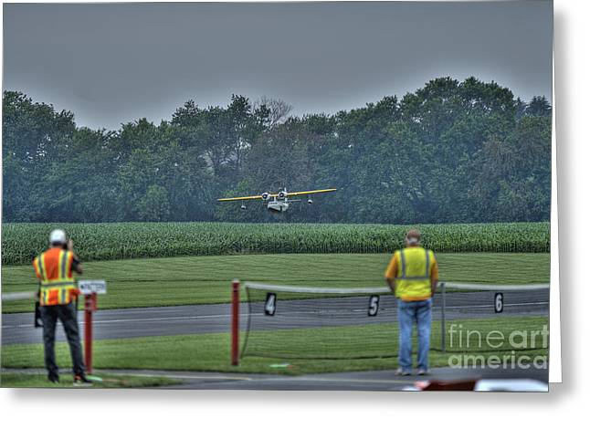 Pby Catalina Greeting Cards - Ready to fly a touch-and-go Greeting Card by David Bearden