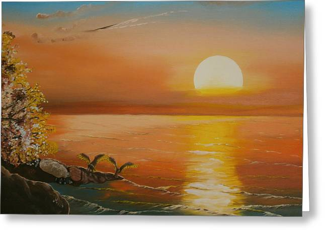 Sunset Posters Greeting Cards - Ready to fly Greeting Card by Maria Woithofer