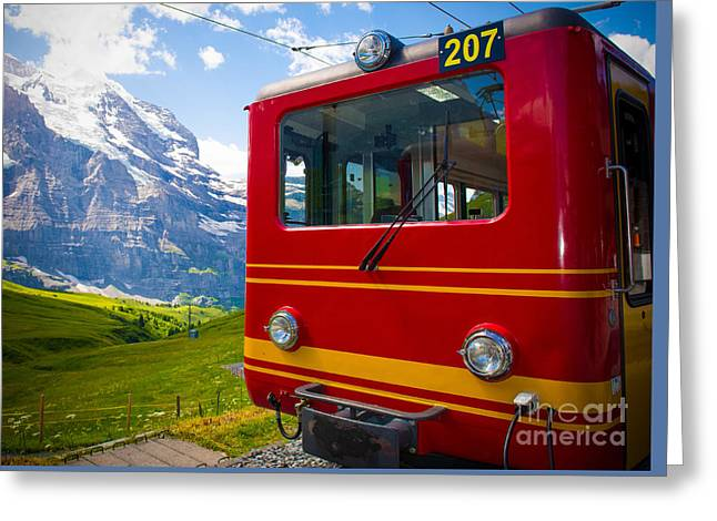 Swiss Photographs Greeting Cards - Ready to Go Greeting Card by Anna Serebryanik