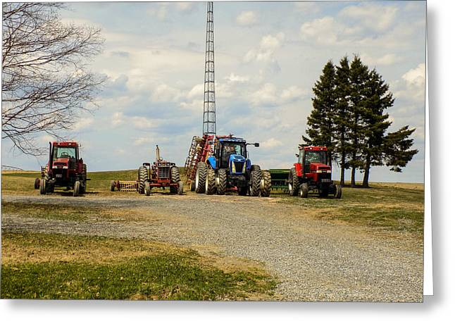 Maine Farms Greeting Cards - Ready to Go Greeting Card by William Tasker