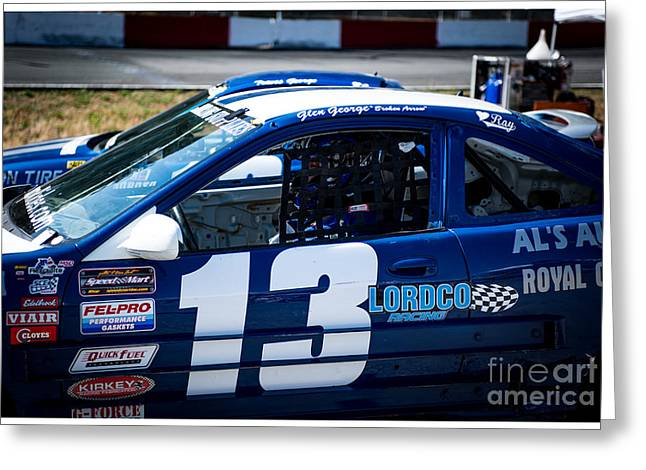 Racecar Number Greeting Cards - Ready to race Greeting Card by Wayne Wilton