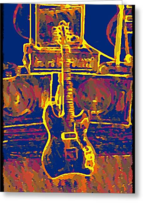 Jetstar Digital Art Greeting Cards - Ready To Rock Greeting Card by Bill Cannon