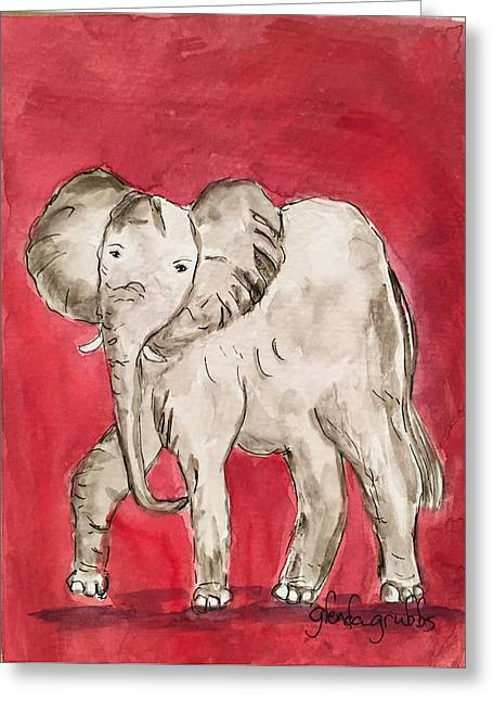 Roll Tide Paintings Greeting Cards - Ready to Roll Greeting Card by Glenda Grubbs