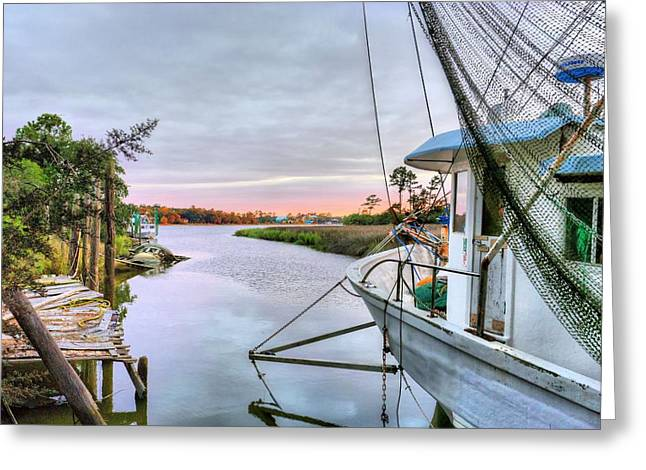 Docked Boats Greeting Cards - Ready to Sail Greeting Card by JC Findley