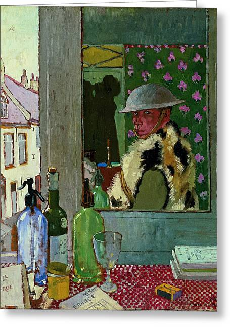 Orpen Greeting Cards - Ready To Start. Self Portrait Greeting Card by  William Orpen