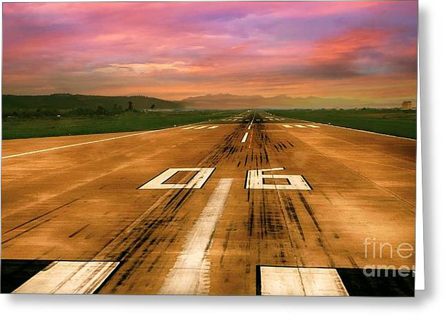 Airstrip Greeting Cards - Ready To Take Off Greeting Card by Charuhas Images