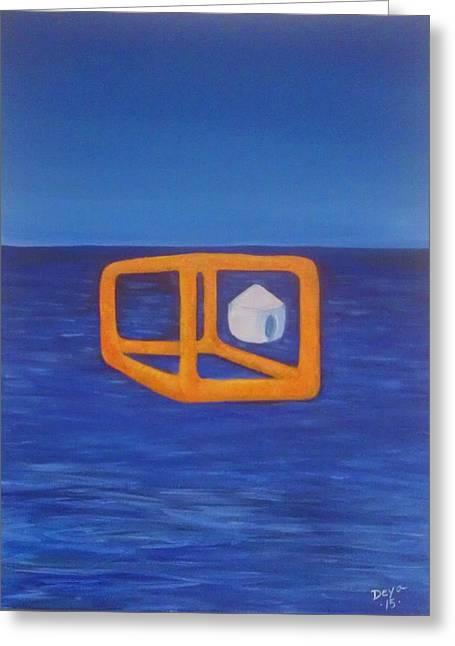 Etc. Paintings Greeting Cards - Ready to transport Greeting Card by Deyanira Harris