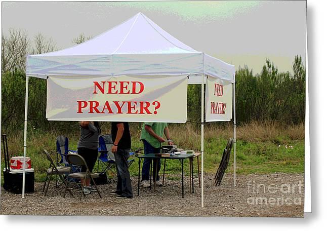 Prayer Warrior Greeting Cards - Real Rest Stop Greeting Card by Joe Jake Pratt