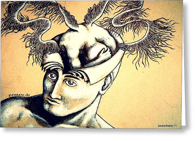 Realization Inner Self of the Being Greeting Card by Paulo Zerbato