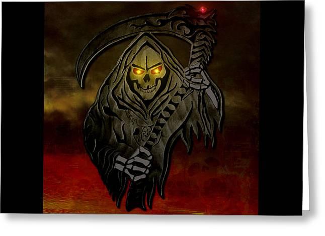 Reaper Greeting Card by Michael Bergman