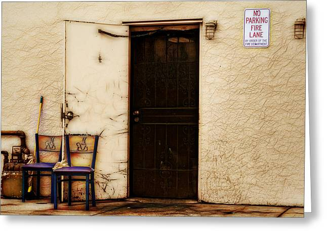 Screen Doors Greeting Cards - Rear Rest Stop Greeting Card by Lewis Mann