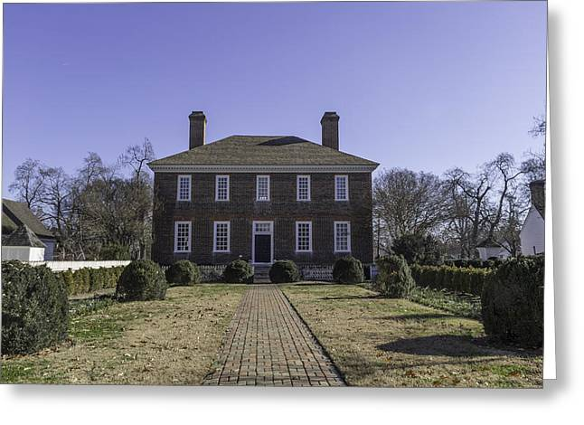 1752 Greeting Cards - Rear View George Wythe House and Garden Greeting Card by Teresa Mucha
