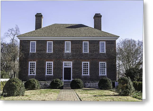 1752 Greeting Cards - Rear View George Wythe House Greeting Card by Teresa Mucha