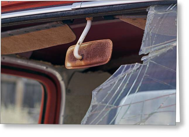 Rear View Mirror Greeting Cards - Rear View Greeting Card by Glennis Siverson