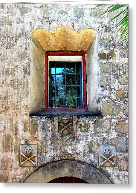 Cross Bones Greeting Cards - Rear Window Greeting Card by William Dey