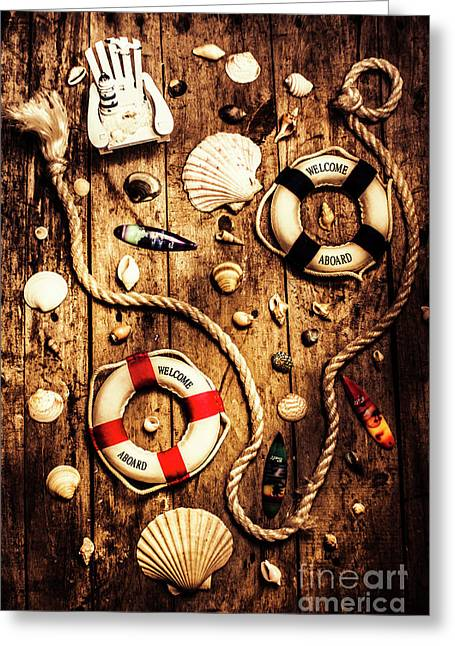 Rearranging The Deck Chairs Greeting Card by Jorgo Photography - Wall Art Gallery