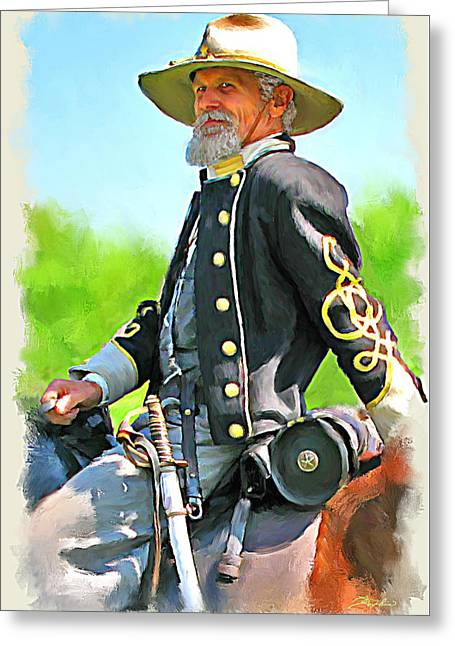 The Horse Greeting Cards - Rebel Colonel Greeting Card by Tim Tompkins
