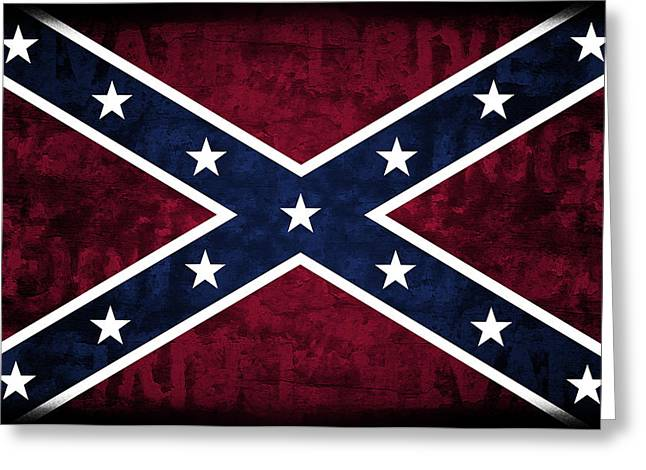 Rebel Flag Greeting Card by Daniel Hagerman