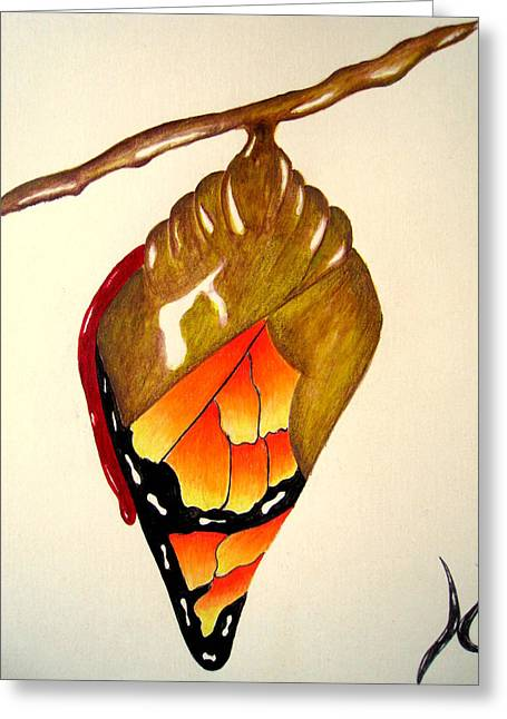 Cocoon Greeting Cards - Rebirth Greeting Card by Roger Golden