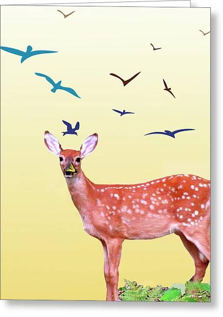 Photos Of Birds Mixed Media Greeting Cards - Reborn Spring Greeting Card by Debra     Vatalaro