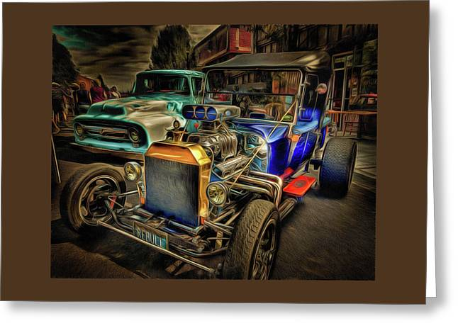 Rebull The T Bucket Hot Rod  Greeting Card by Thom Zehrfeld