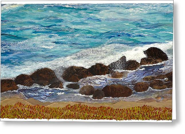 Cambria Mixed Media Greeting Cards - Recalling Cambria Greeting Card by Mary Martin