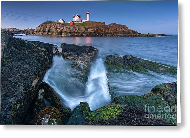 Cape Neddick Lighthouse Greeting Cards - Receding Greeting Card by Scott Thorp