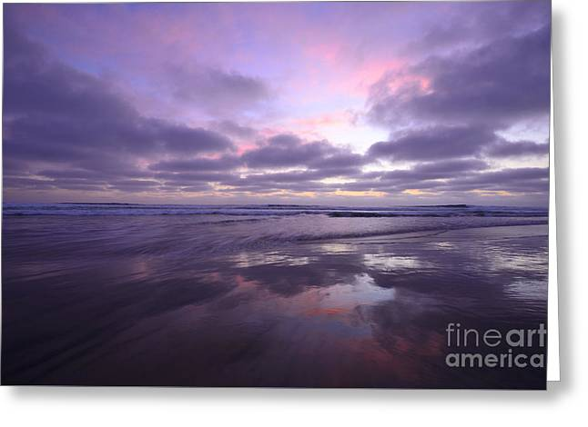 California Beaches Greeting Cards - Cardiff Reflections On Sale  Greeting Card by John Tsumas