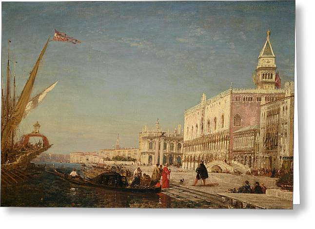 Reception Paintings Greeting Cards - Reception in Venice Greeting Card by Celestial Images