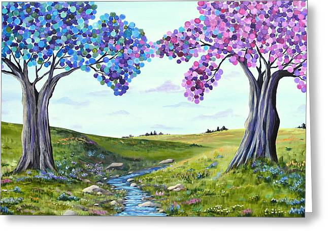 Surreal Landscape Greeting Cards - Reciprocity Greeting Card by Wendy Smith