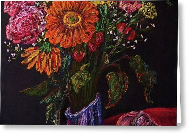 Recital Bouquet Greeting Card by Emily Michaud
