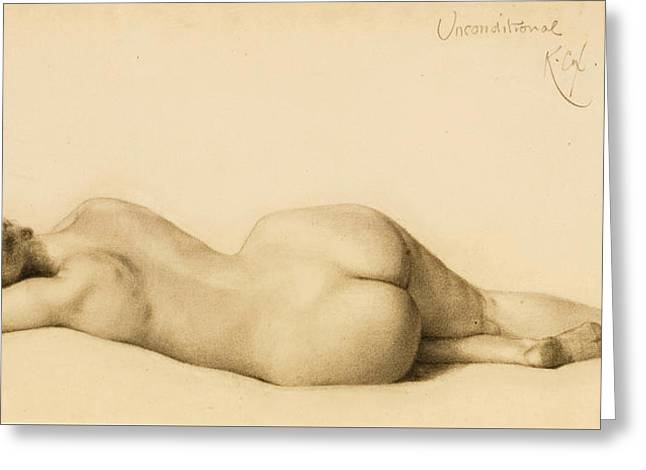 Reclining Nude Greeting Card by Kenyon Cox