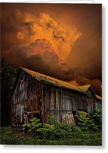 Wisconsin Barn Greeting Cards - Recluse Greeting Card by Phil Koch