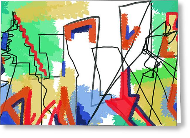 Images Lightning Drawings Greeting Cards - Reconstruzione  Greeting Card by Paul Sutcliffe