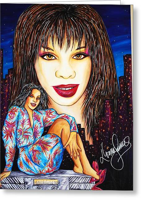 Autographed Records Greeting Cards - Record Radio Dayz Greeting Card by Joseph Lawrence Vasile