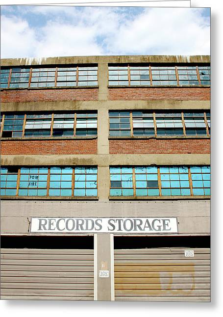 Records Storage- Nashville Photography By Linda Woods Greeting Card by Linda Woods