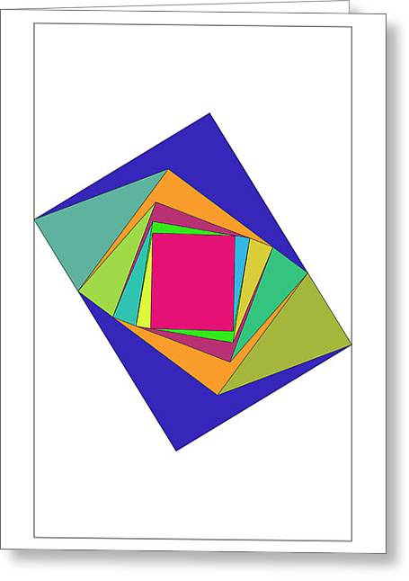 Coloured Greeting Cards - Rectangulos Greeting Card by Francisco Rodriguez