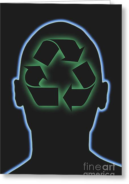 Conscious Greeting Cards - Recycling Greeting Card by George Mattei