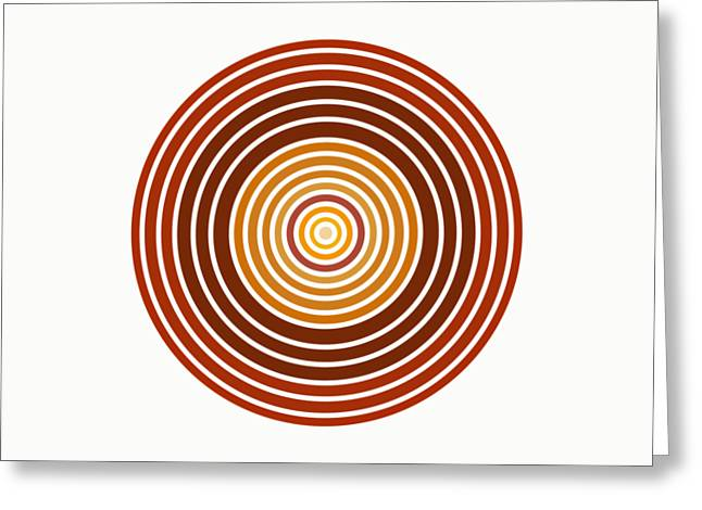 Red Abstract Circle Greeting Card by Frank Tschakert
