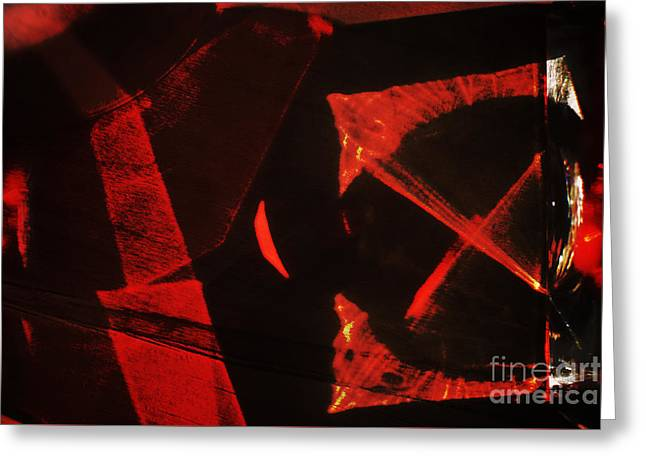 Glass Reflecting Greeting Cards - Red abstraction Greeting Card by Elena Lir-Rachkovskaya