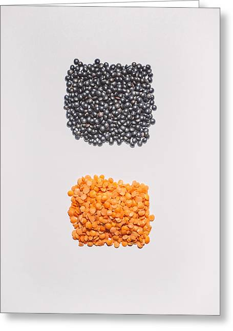 Red And Black Lentils Greeting Card by Scott Norris