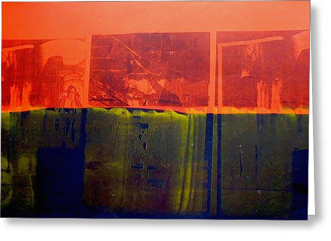 Rothko Greeting Cards - Red and Blue Greeting Card by David Studwell