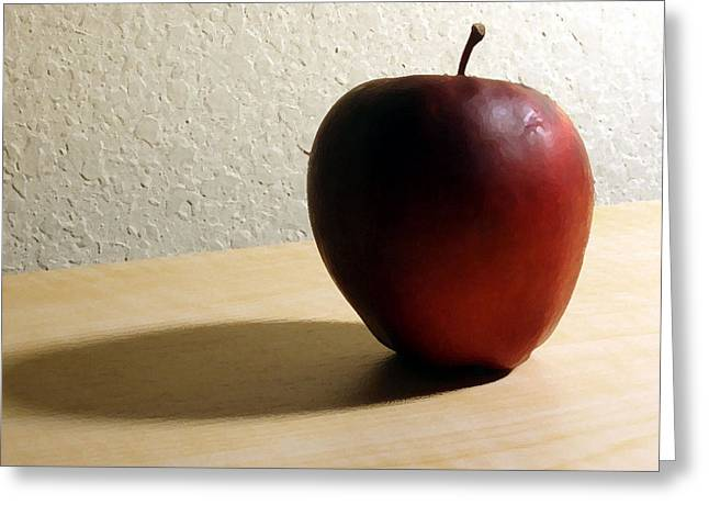 Red Apple Greeting Card by Eric Forster