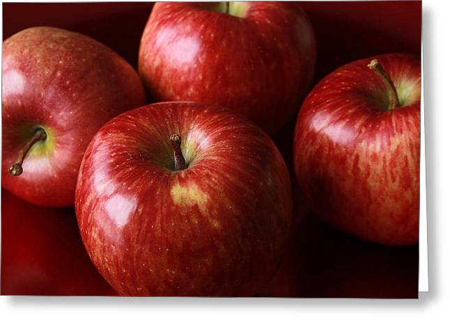 Menu Greeting Cards - Red Apples Greeting Card by FL collection