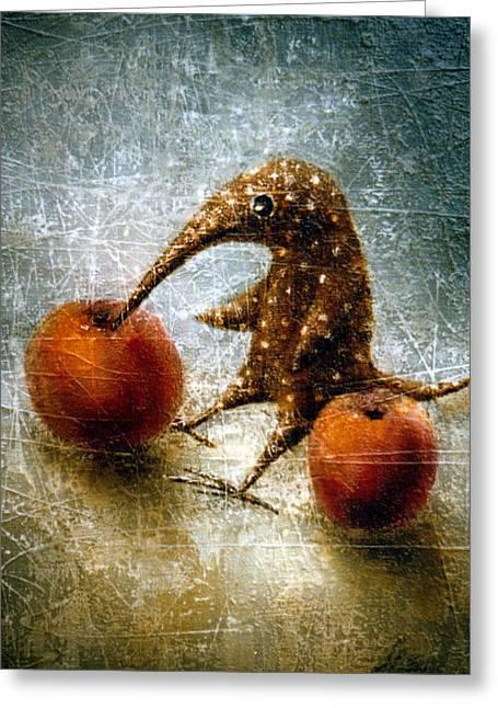 Birdman Greeting Cards - Red Apples Greeting Card by Lolita Bronzini