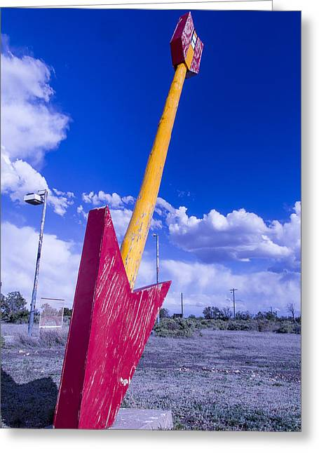 Large Photographs Greeting Cards - Red Arrow 2 Greeting Card by Garry Gay