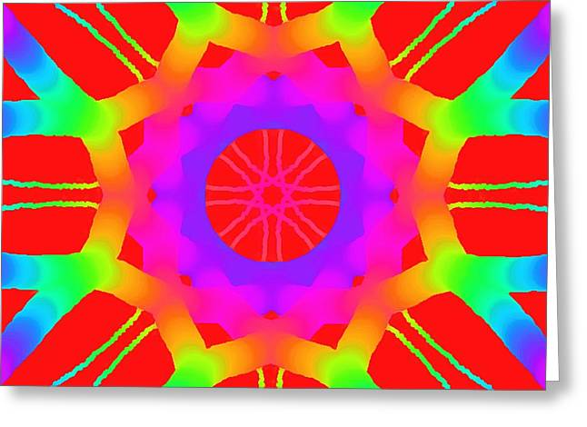 Bed Spread Greeting Cards - Red Ball  Greeting Card by Floyd Snyder
