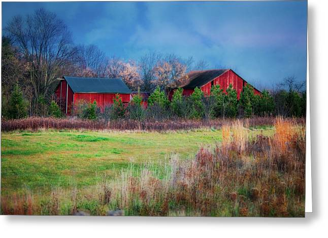 Red Barn At Retzer Nature Center Greeting Card by Jennifer Rondinelli Reilly - Fine Art Photography